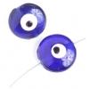 "Glass Evil Eye Bead Round 20mm 8"" Strand Blue"